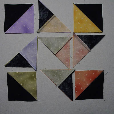 Half Square triangles and quarter square triangles