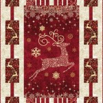 Dazzle Christmas Quilt with Reindeer Panel by Northcott Stonehenge