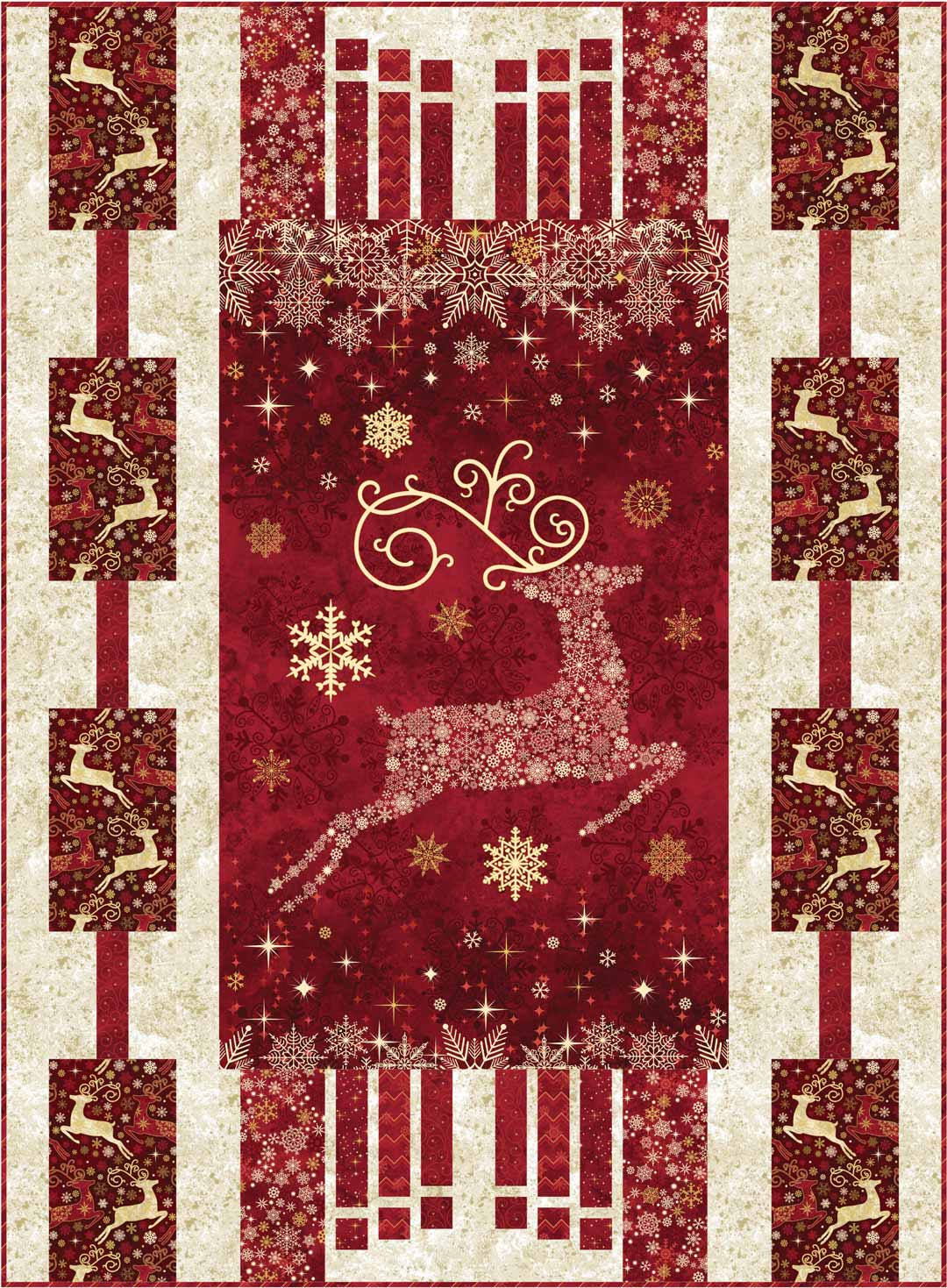 Christmas Quilt.Dazzle Christmas Panel Quilt Download Pattern