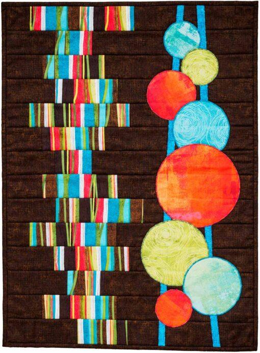 Strata stitch and flip modern quilt pattern