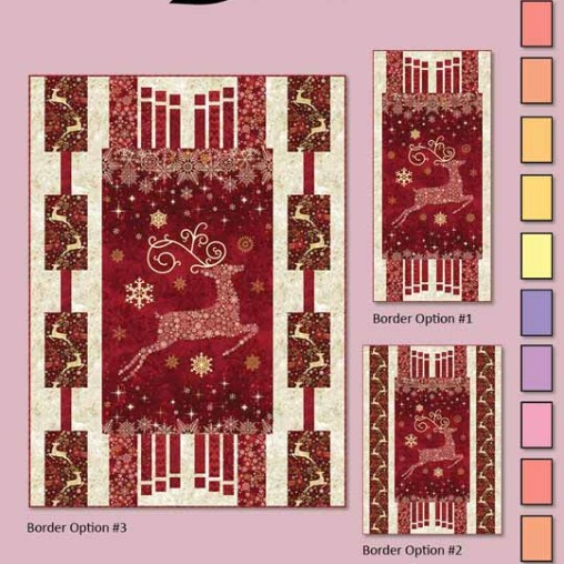 Dazzle Quilt Pattern Cover Christmas Wall Hanging or Table Runner