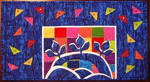 Rainbow Bridge - A mini art quilt