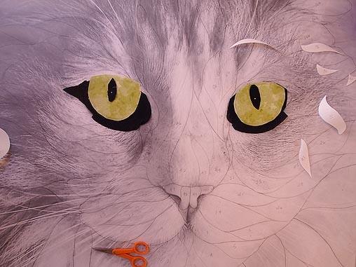 Frostie's green eyes