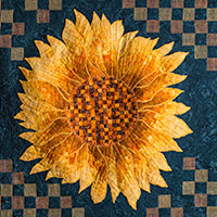 Sunflower Bargello Pattern Button