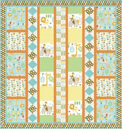 Jungle Maze Children's Quilt