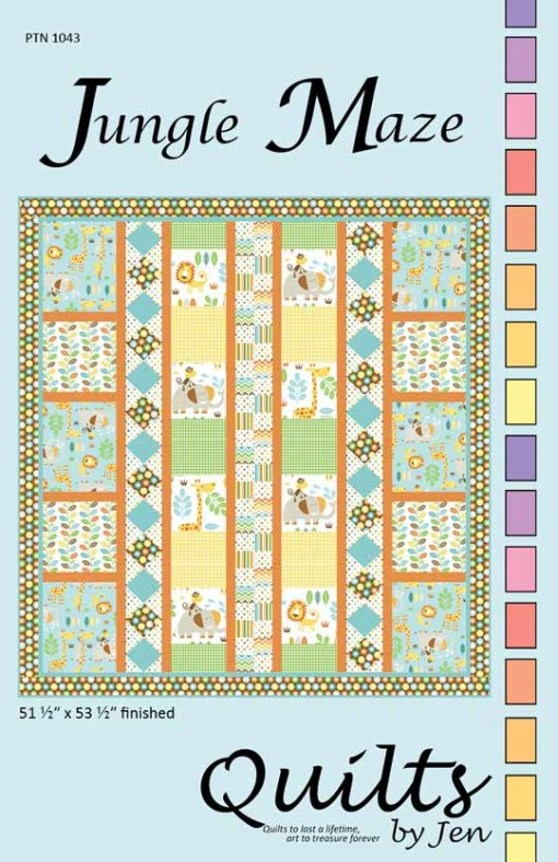 Front Cover of Jungle Maze Children's Quilt Pattern