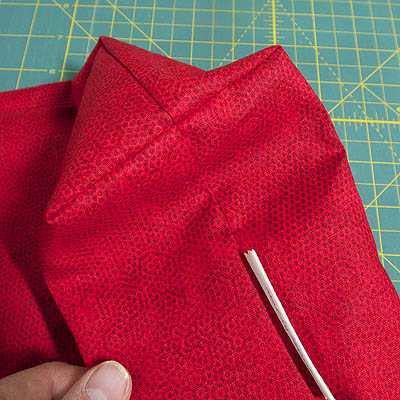 a box corner with seams meeting perfectly