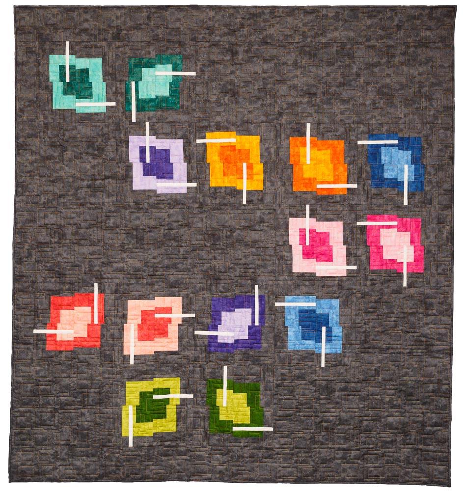 Chopstix modern quilt pattern download quilts by jen for Modern house quilts