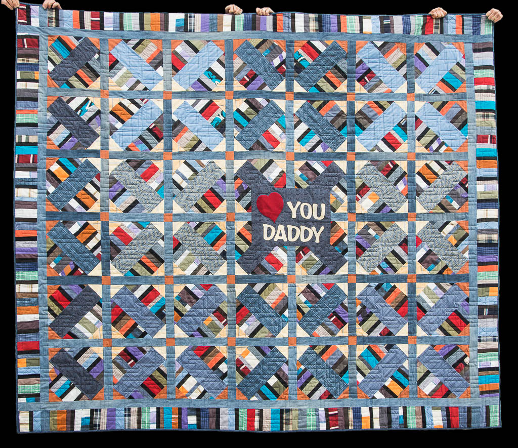 Love You Daddy Memory Quilt