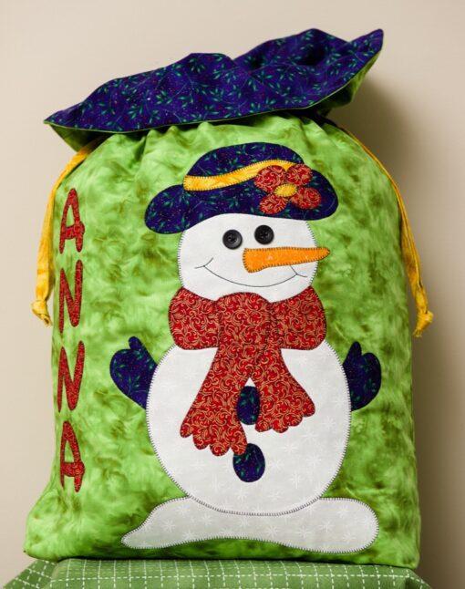 Snow lady Christmas gift bag Santa sac
